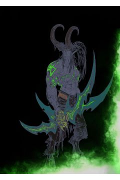 BlizzardVerse Stencils - Illidan, the Betrayer, Warcraft - plakat