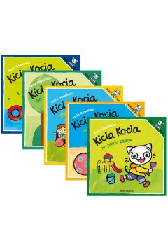 Pakiet: Kicia Kocia na basenie, Kicia Kocia na rowerze, Kicia Kocia gra w piłkę, Kicia Kocia na plaży, Kicia Kocia na placu zabaw