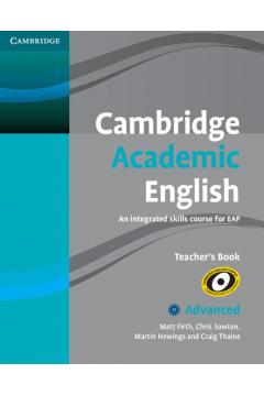 Cambridge Academic English C1 Advanced Teacher's Book