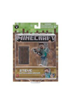 Minecraft - figurka Steve w zbroi z łańcucha