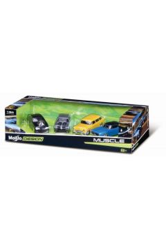 MI 11246-61 Design auta 1:64 4-pack Muscle