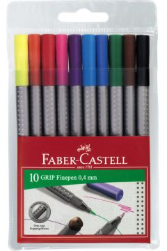 Cienkopisy Grip 10 kolorów FABER CASTELL