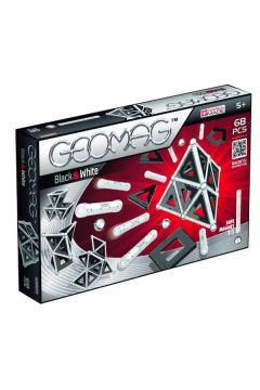 Geomag Black&White. Klocki magnetyczne. 68 elementów