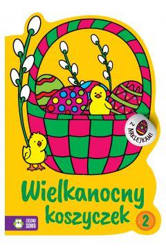 Wielkanocne kolorowanki. Wielkanocny koszyczek 2