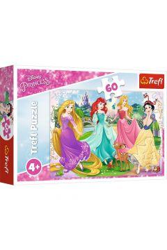 Puzzle 60 el. Ulubione księżniczki