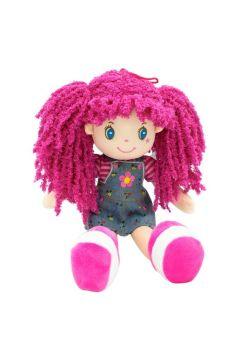 Lalka Basia różowe włosy 35 cm