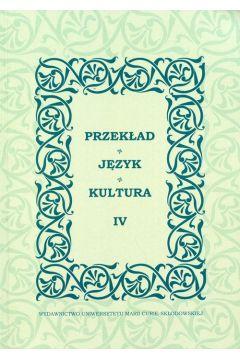 Przekład Język Kultura IV