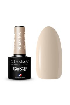 CLARESA_Soak Off UV/LED Nude lakier hybrydowy 103