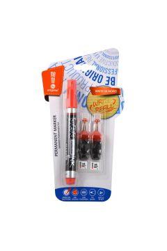 Marker permanentny + 2 ampułki czerwony MemoBe