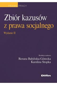 Zbiór kazusów z prawa socjalnego