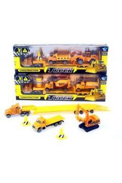 Truck+2 pojazdy budowlane w pud.  JP5101 Cena za sztukę