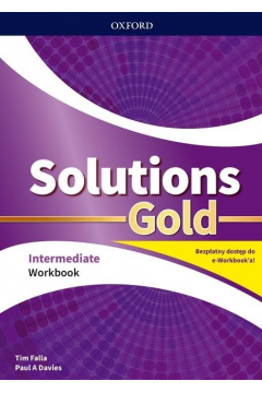 Solutions Gold Intermediate WB with e-book Pack 2020