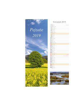 Kalendarz 2019 pasek pejzaże 13k