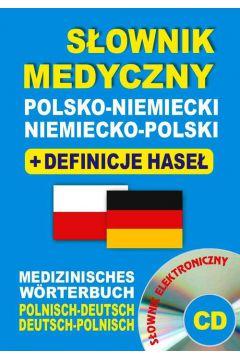 Słownik medyczny polsko-niemiecki niemiecko-pl +CD