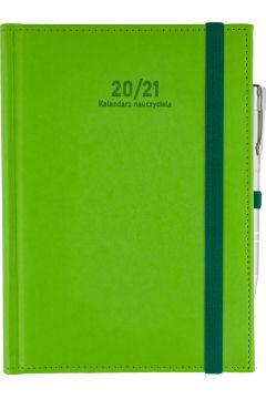 Kalendarz Nauczyciela A5 2020/2021 Nebraska, seledynowy