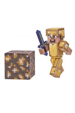 Minecraft. Figurka Steve w złotej zbroi