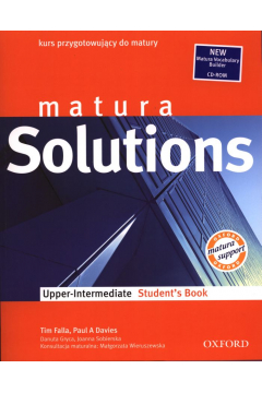 Matura Solutions. Upper Intermediate. Student's Book. Kurs przygotowujący do matury