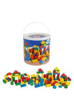 Kolorowe klocki w wiaderku 100 elementów