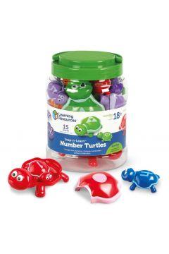 Żółwie, Figurki do nauki liczenia, kolorów..