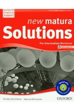 Matura Solutions NEW Pre-intermed. 2E WB PL OXFORD