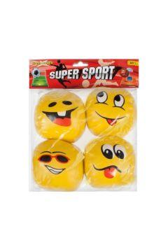 Piłki miękkie antystresowe Emotikony 4 sztuki MEGA CREATIVE 429801
