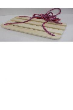 Huśtawka deska drewniana mała siatka 154767