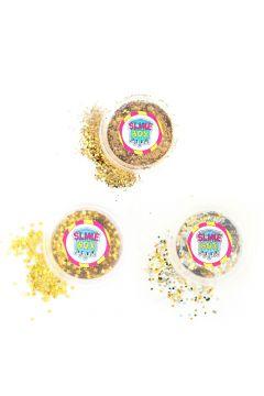 Brokaty zestaw nr 8 - 3 kolory (złoty/złote gwiazdki/confetti)