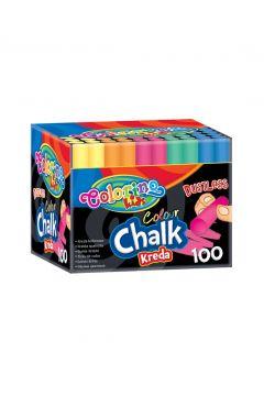 Kreda kolorowa Colorino Kids bezpyłowa 100 sztuk