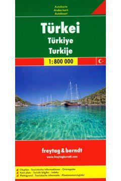 Turcja mapa drogowa 1:800 000