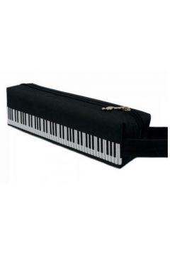 Piórnik - klawiatura czarny