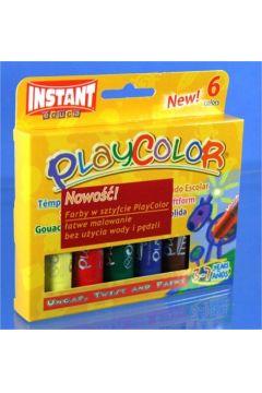 Farby w sztyfcie 6 kolorów PLAYCOLOR