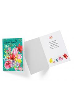 Karnet PR-244 Urodziny (kwiaty)