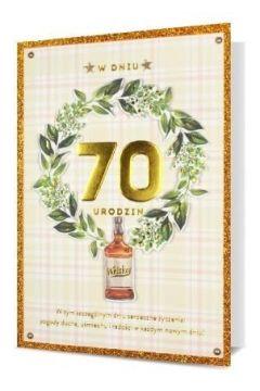 Karnet B6 Urodziny 70 HM200-2298
