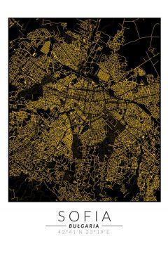 Sofia złota mapa. Plakat