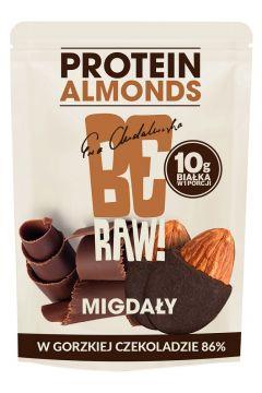 Migdały w gorzkiej czekoladzie 86% z dodatkiem białka