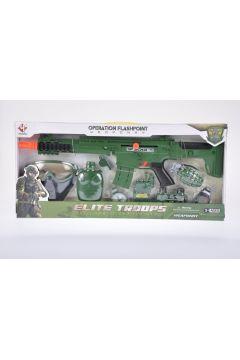Zestaw wojskowy z dźwiękiem  plus akcesoria MEGA CREATIVE 460230