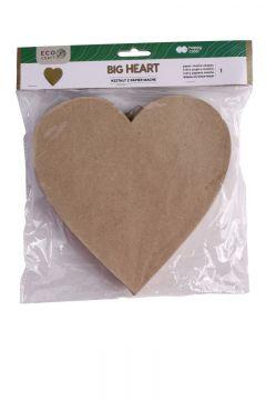 Kształty z papier mache Big Heart HAPPY COLOR