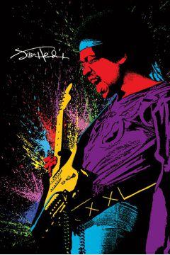 Jimi Hendrix Paint - plakat