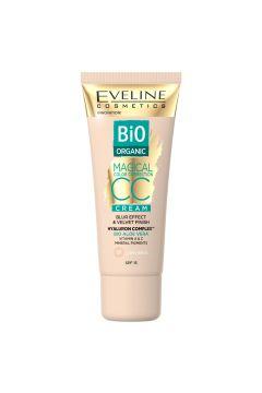 EVELINE_Bio Organic Magical Color krem CC z mineralnymi pigmentami 01 Light Beige
