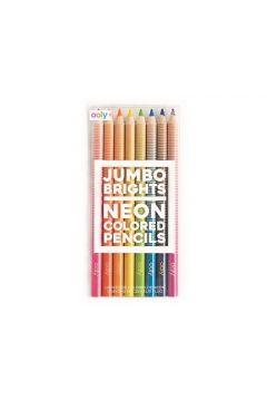 Kredki neonowe ołówkowe grube 8 kredek