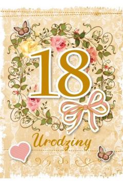 Karnet Urodziny Osiemnastka GM-593