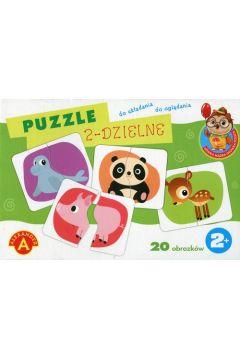 Puzzle 2-dzielne - Sówka mądra główka