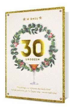 Karnet B6 Urodziny 30 HM200-2294