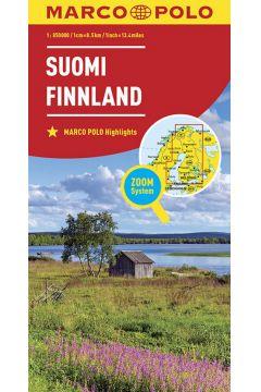 Mapa ZOOM System. Finlandia 1:800 000 plan miasta