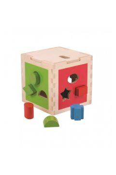 Shape Sorting Cube Sorter dewniany