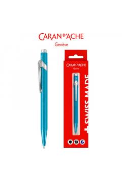 Długopis CARAN DACHE 849 Gift Box Metal-X Line Turquoise turkusowy