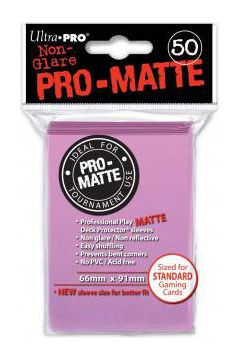 ULTRA-PRO Deck Protector - Pro-Matte Non-Glare Pink (Różowe) 50 szt.