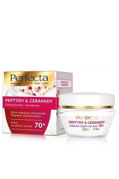 Peptydy & Ceramidy 70+ krem do twarzy silna redukcja zmarszczek i poprawa elastyczności na dzień i na noc