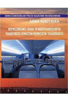 Bezpieczeństwo usług w międzynarodowym transporcie lotniczym przewozów pasażerskich