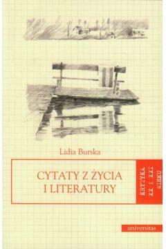 Cytaty z życia i literatury. Krytyka XX i XXI wieku
